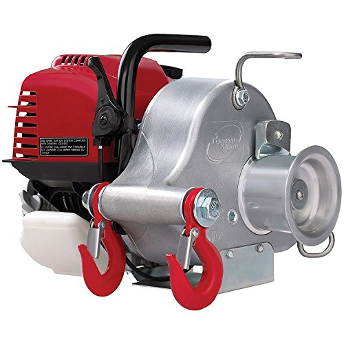 PORTABLE WINCH Gas-Powered Portable Capstan Winch, Power of 1550lbs (Winch Powered)