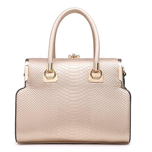 Price comparison product image 505443 MyLux WOMEN Designer X-Large Shoulder Tote Handbags (767409gold)