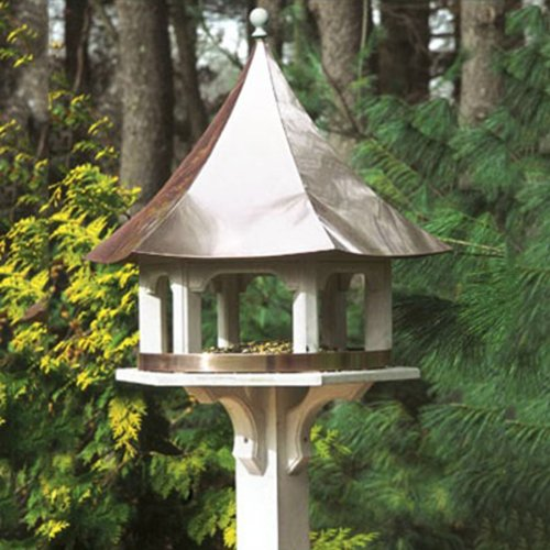 Lazy Hill Farm Designs Carousel Feeder with a Polished Copper Roof (White) (24