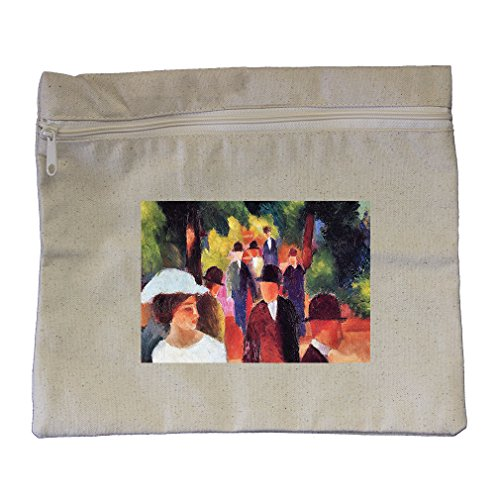 Promenade #2 (August Macke) Canvas Zippered Pouch Makeup - The In Stores Promenade