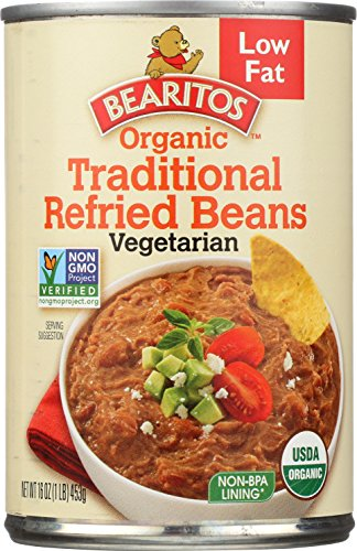 Bearitos Organic Low Fat Traditional Refried Beans, 16 Ounce