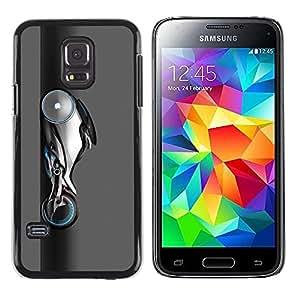 Be Good Phone Accessory // Dura Cáscara cubierta Protectora Caso Carcasa Funda de Protección para Samsung Galaxy S5 Mini, SM-G800, NOT S5 REGULAR! // Alien Motorcycle Hot Rod