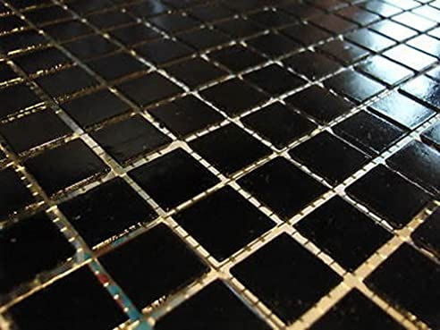 fliesentopshop glasmosaik mosaik fliesen bad pool dusche schwarz 2 ... - Naturstein Dusche Bad 2