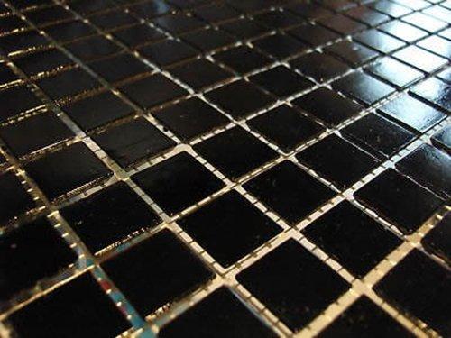 Fliesentopshop Glasmosaik Mosaik Fliesen Bad Pool Dusche Schwarz 1