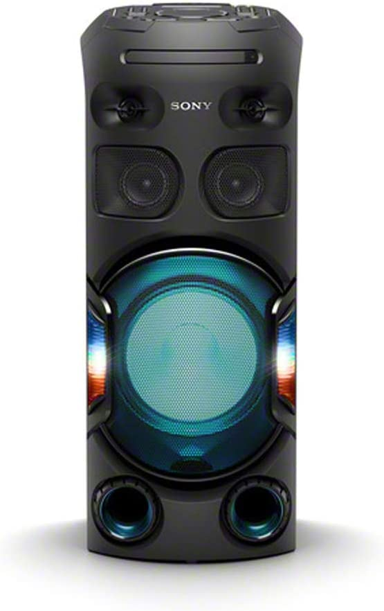 Sony MHC V42D, High Power Party Speaker. One Box Music System with Multi Colour Lighting Effects
