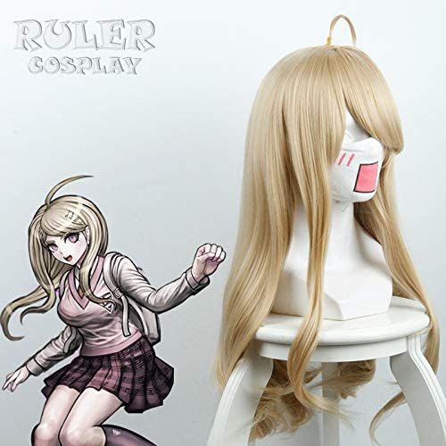 RULER COSPLAY Danganronpa V3 Killing Harmony V3 Akamatsu kaede/ / / yellow micro curly long hair cos anime parrucca