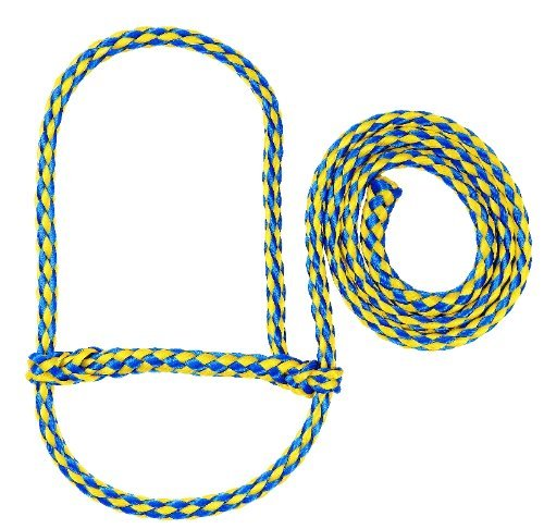 (Weaver Leather Poly Rope Sheep Halter Blue/Yellow)
