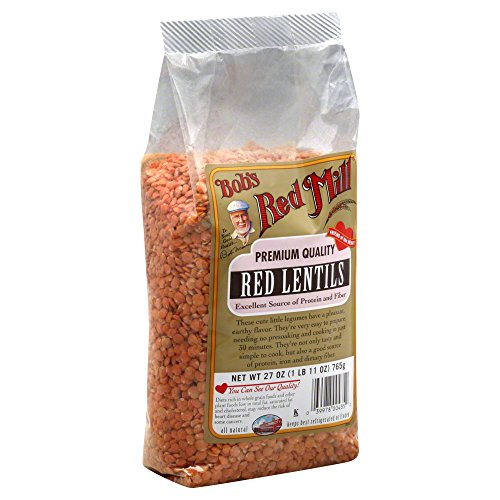 Bobs Red Mill Beans, Red Lentils 27.0 OZ(Pack of 6) by Bob's Red Mill