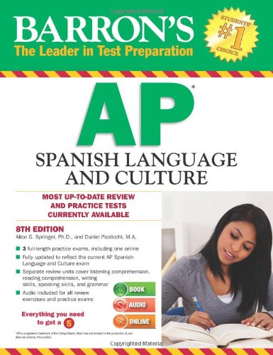 Barron's AP Spanish Language and Culture with MP3 CD, 8th Edition