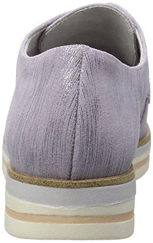 Marco Tozzi Premio 23306, Zapatos de Cordones Oxford para Mujer, Morado (Lavender Met. 545), 42 EU