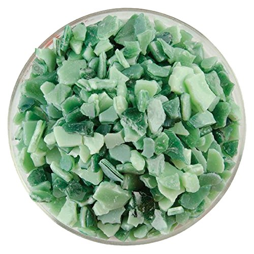 Bullseye Aventurine Green - Mint Green Opalescent & Aventurine Green Transparent 2-Color Mix Extra Large Fusible Glass Frit - 4oz - 90COE - Made From Bullseye Glass
