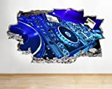 Dj Decks Music Cool Studio Boys Bedroom Wall Decal 3D Art Stickers (Medium (52x30cm))