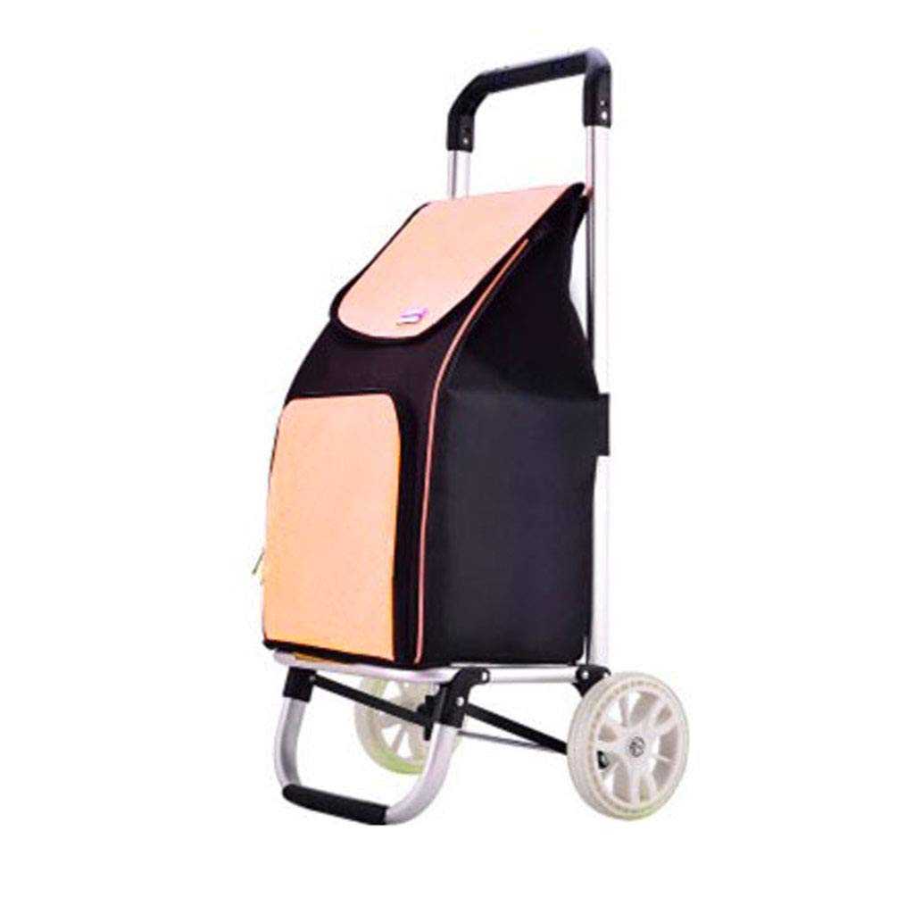 D Mesurn Portable Shopping Cart, Durable Aluminum Alloy, Waterproof Oxford Cloth, Frame Folding Shopping Trolley