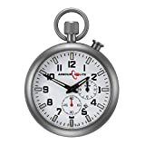 White Dial Alarm Clock Tritium Pocket Watch by Armourlite