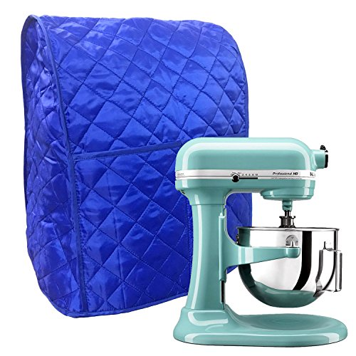Stand Mixer Cover Dust-proof with Organizer Bag for Tilt-Head Stand Mixers (blue) - Quilted Blender Appliance Cover