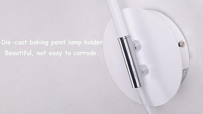 Wsxxn ° bilanciere con filo elettrico bianco lampada da parete