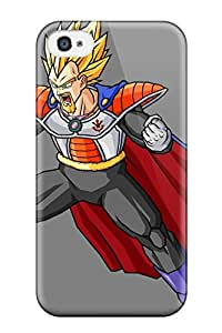 Tpu Case Cover Compatible For Iphone 4/4s/ Hot Case/ King Vegeta