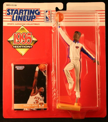 PATRICK EWING / NEW YORK KNICKS 1995 NBA Starting Lineup Action Figure & Exclusive NBA Collector Trading - Mall Patrick