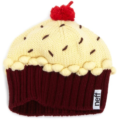 ( Neff Women's Cupcake Beanie Hat - Red Velvet, One Size)