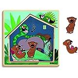 Djeco DJ01484 3 Layer Puzzle- Cabana Puzzle