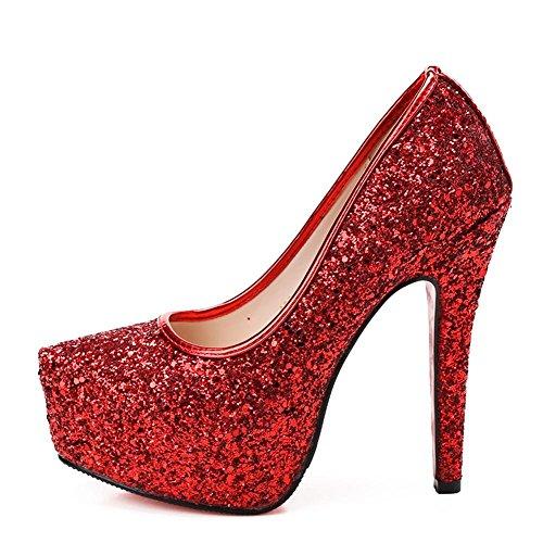 altos Fina Bomba Las Con Red De Impermeable Dance La Tabla Mujer Cristal Vestido Lentejuelas SeñOras Tacones Sandalias Verano qwaxn18Ep