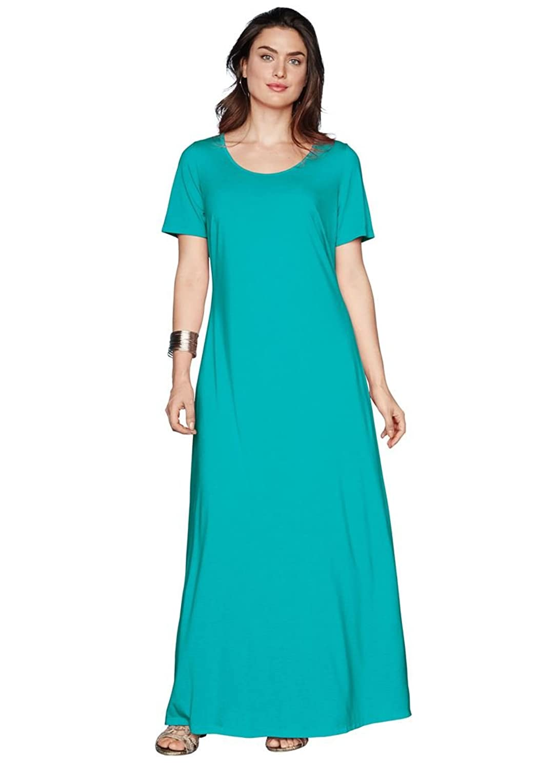 Jessica London Women's Plus Size Tee Shirt Maxi Dress