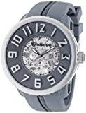 Tendence Round Gulliver Skeleton Steel Automatic Silver Men's Watch T0491003
