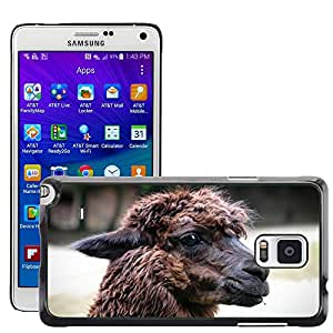 Hot Style Cell Phone PC Hard Case Cover // M00115767 Alpaca Animal Nature Furry Portrait // Samsung Galaxy Note 4 IV