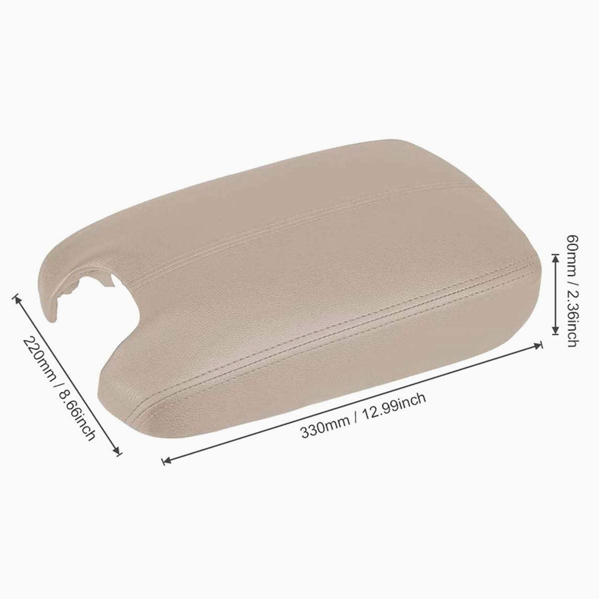 Black Dunhil Comfortable Microfiber Leather Suture Console Armrest Lid Cover for 2008 2009 2010 2011 2012 Honda Accord Center Console Cover Lid