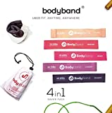 BodyBandTM Latex Resistance Bands for Exercise, 4 in 1 Combo for...