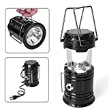 SaleOn Lantern LED Solar Emergency Light Bulb With Mobile Charging Facility-024(Black)