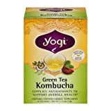 Yogi Tea Green Tea Kombucha, Herbal Supplement, Tea Bags, 16 ct, (Pack of 14)
