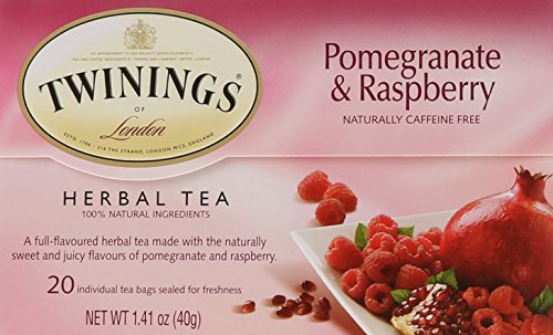 (Twinings of London Pomegranate & Raspberry Herbal Tea Bags, 20 Count)