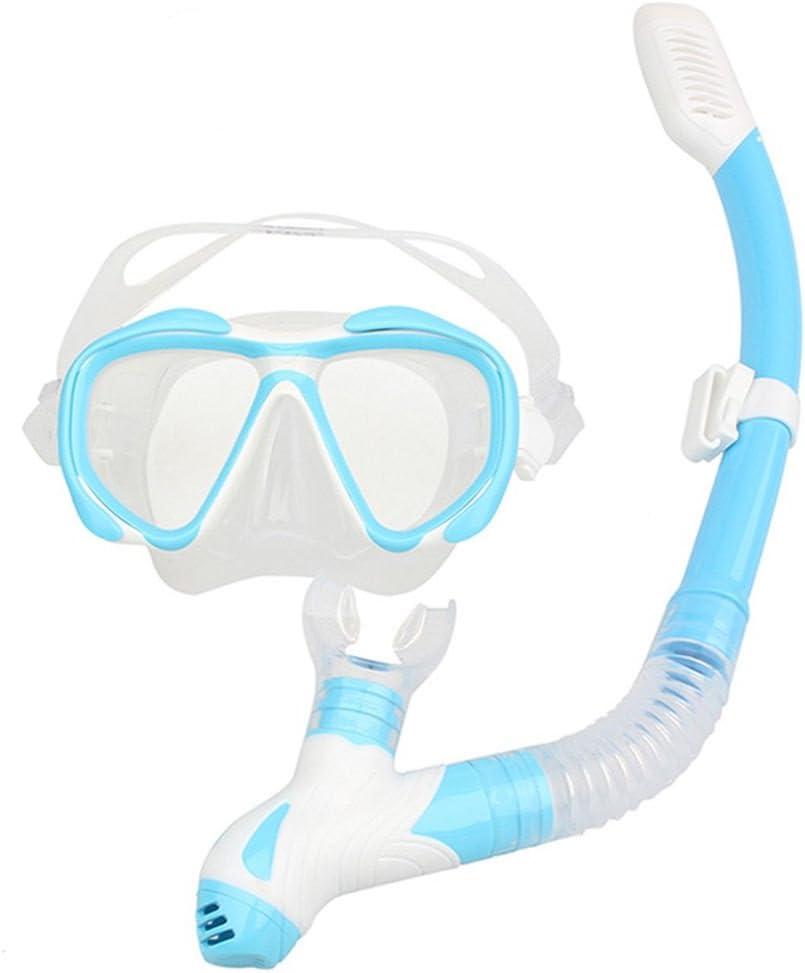 ブルーダイビングシュノーケルマスクセット水泳シュノーケリングUnderwater Breathゴーグル
