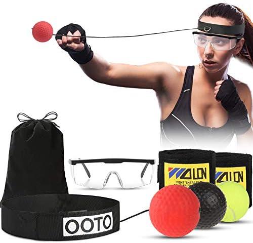OOTO Bola de Boxeo Reflex Mejorada, Pelota de Entrenamiento de ...