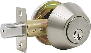 Probrico 1 Side Keyed Cylinder Deadbolt in Brushed Satin Nickel