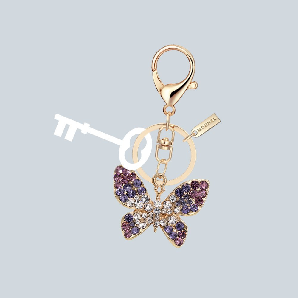 7bc0ed58c3b Bling Crystal Butterfly Design Keychain Creative Packaging Design Box  MZ835-1