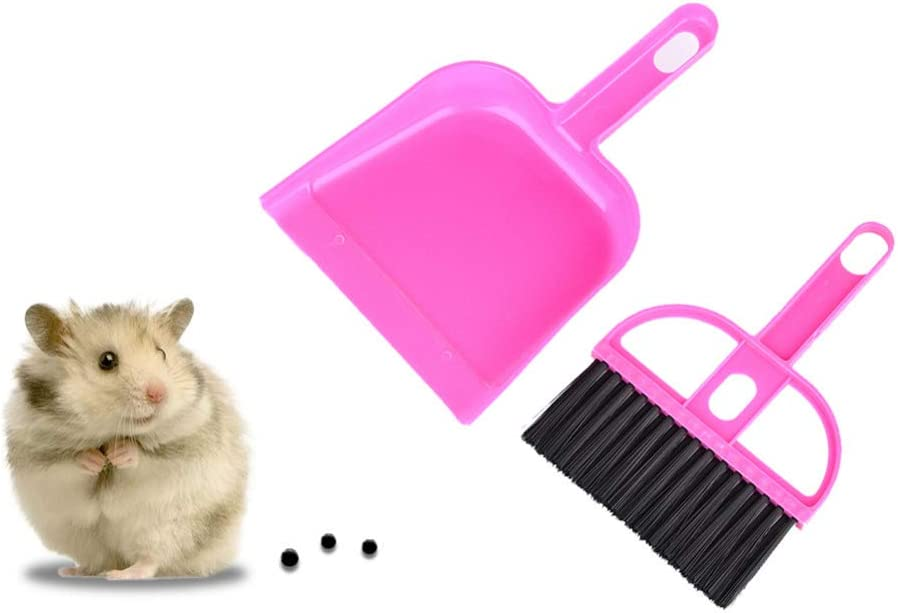 Pet Cage Broom Brush Dustpan Desktop Sweep Cleaning Brush for Reptile Hedgehog Guinea Pig Rabbits and Other Small Animals Hamster TXIN Set of 3 Mini Dustpan and Broom Set Chinchilla