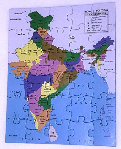 India Map With All States.Buy Kreatieve Haus Enterprise Paper Puzzle Of Indian Map With