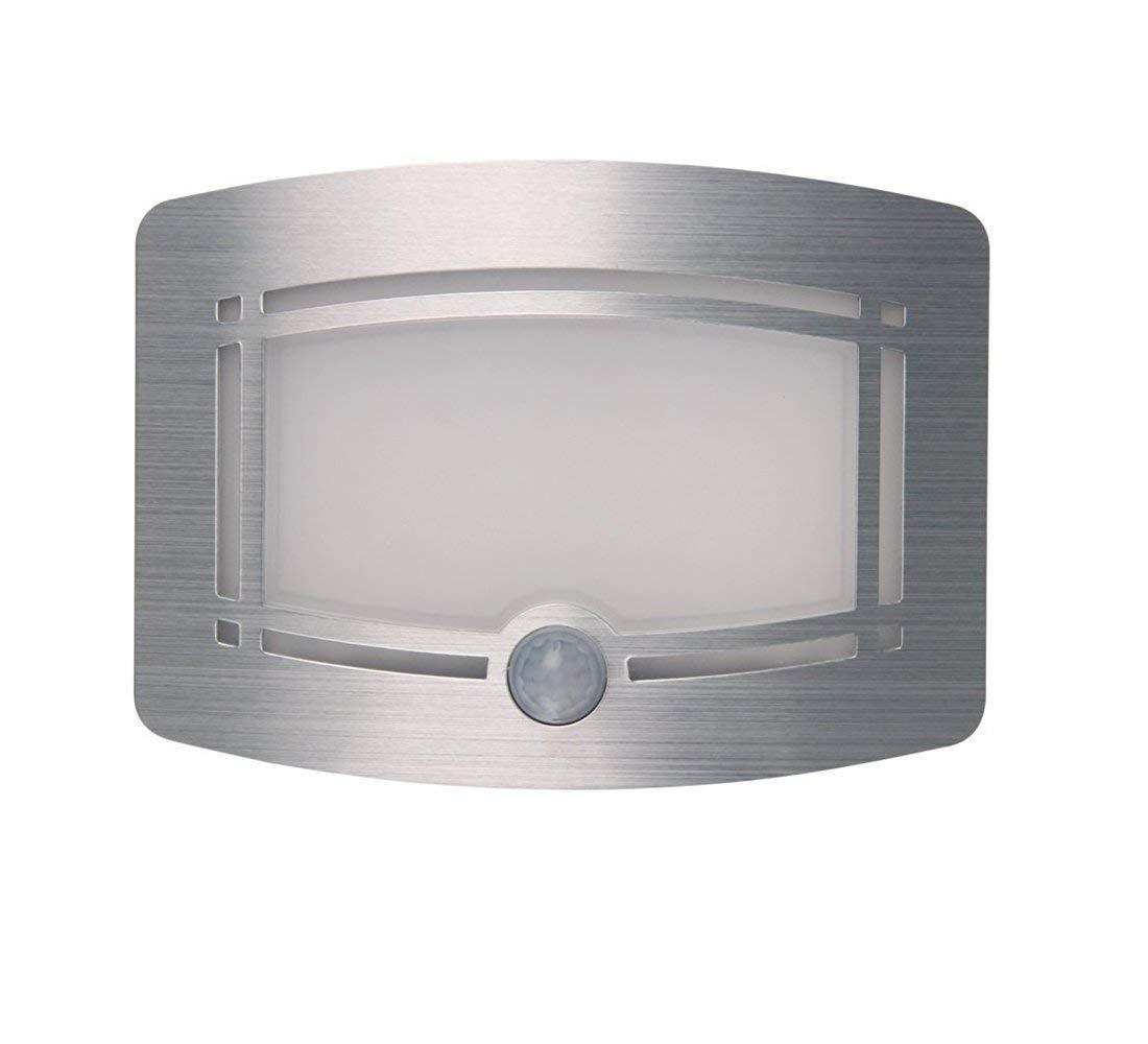 LEADSTAR LED Luces con Sensor de Movimiento Funciona con Pilas para Pared Patio Camino de Entrada Escaleras - Blanco Cálido: Amazon.es: Iluminación