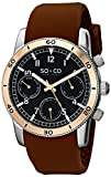 SO&CO New York Men's 5018B.3 Yacht Club Quartz Day and Date Brown Rubber Strap Watch