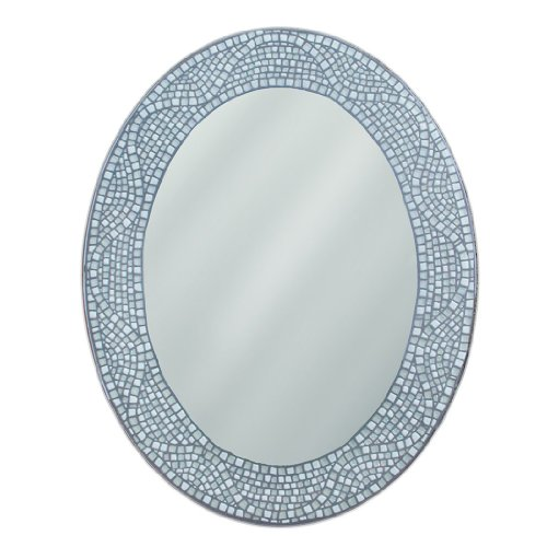 - Head West Opal Mosaic Oval Mirror, 23 by 29-Inch