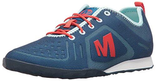 Merrell Womens Civet Lace Sneaker, Azul Mykonos, 37.5 B(M) EU/4.5 B(M) UK