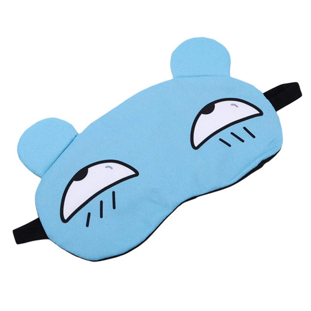 LZIYAN Sleep Masks Cartoon Sleep Eye Mask Soft Cute Eyeshade Eyepatch Travel Sleeping Blindfold Nap Cover,Blue by LZIYAN (Image #2)
