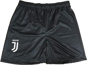 """Juventus F.C - Pantalones cortos """"Juventus Juve"""", réplica de los oficiales 2017-2018. Tallas disponibles: para niños y hombres adultos, Negro , X-Large: Amazon.es: Deportes y aire libre"""