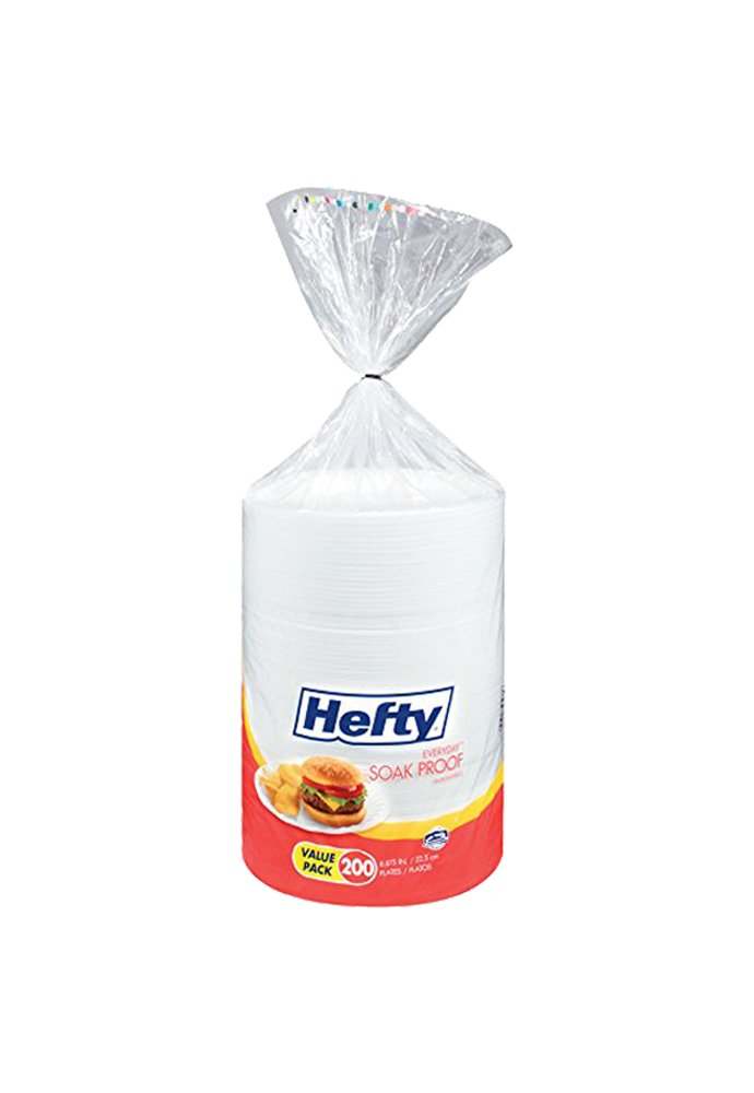 Hefty Everyday oYOWR Foam Plates (White, Soak Proof, 9-Inch), 200 Count (5 Pack) by Hefty