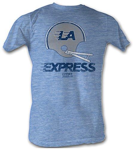usfl-la-express-t-shirt-football-league-adult-blue-heather-tee-shirt-medium