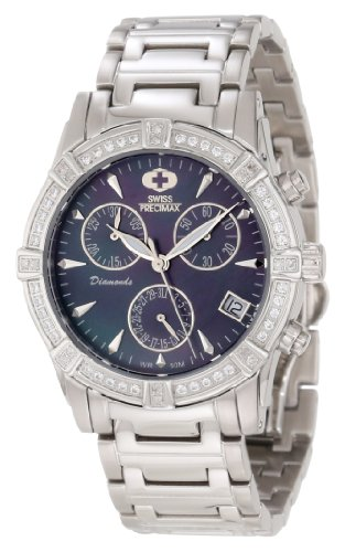 Swiss Precimax Women's SP12079 Desire Elite Diamond Mother-Of-Pearl Dial Watch