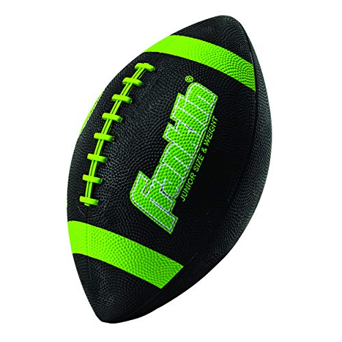 Franklin Sports Grip-Rite 100 Rubber Junior Football - Lime]()