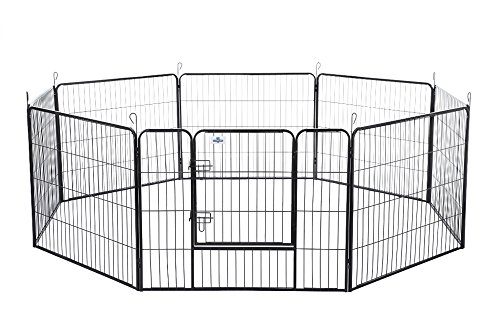 Cheap Confidence Pet Heavy Duty 8 Panel Playpen Dog Play Pen / Training Exercise Yard- 24 Inches